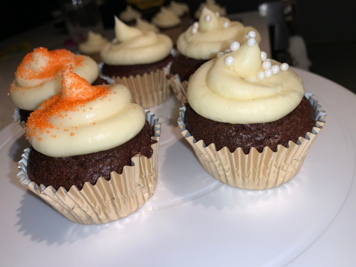 Chocolate Cupcakes with Almond/Vanilla Buttercream